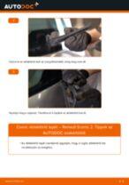 Hátsó ablaktörlő lapát-csere Renault Scenic 2 gépkocsin – Útmutató