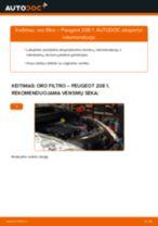 Automechanikų rekomendacijos PEUGEOT Peugeot 208 1 1.2 Vikšro Valdymo Svirtis keitimui