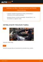 VOLVO V50 Skersinės vairo trauklės galas pakeisti: žinynai pdf