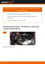 Žingsnis po žingsnio pakeiskite FIAT BRAVO II (198) Spyruoklės PDF vadovas