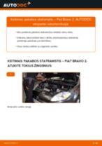 Pakeisti Įsiurbimo vamzdis, oro filtras FIAT BRAVA: instrukcija