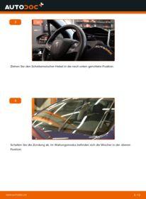 Wie der Wechsel durchführt wird: Scheibenwischer 1.4 HDi Peugeot 208 1 tauschen
