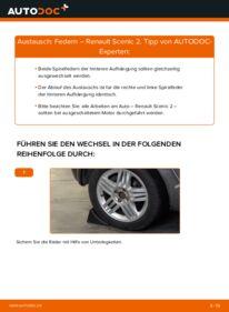 Wie der Wechsel durchführt wird: Federn 1.9 dCi Renault Scenic 2 tauschen