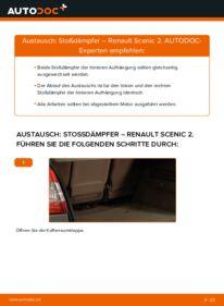 Wie der Wechsel durchführt wird: Stoßdämpfer 1.9 dCi Renault Scenic 2 tauschen