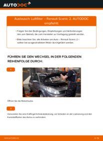 Wie der Wechsel durchführt wird: Luftfilter 1.9 dCi Renault Scenic 2 tauschen