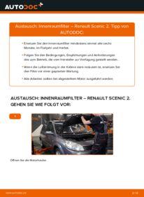 Wie der Wechsel durchführt wird: Innenraumfilter 1.9 dCi Renault Scenic 2 tauschen