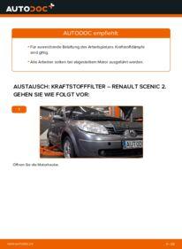 Wie der Wechsel durchführt wird: Kraftstofffilter 1.9 dCi Renault Scenic 2 tauschen