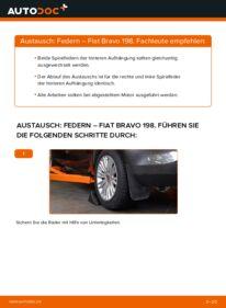 Wie der Wechsel durchführt wird: Federn 1.9 D Multijet FIAT BRAVO II (198) tauschen