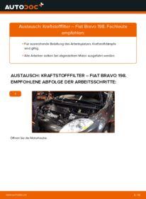 Wie der Wechsel durchführt wird: Kraftstofffilter 1.9 D Multijet FIAT BRAVO II (198) tauschen
