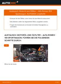Wie der Wechsel durchführt wird: Ölfilter 1.9 JTDM 16V Alfa Romeo 159 Sportwagon tauschen