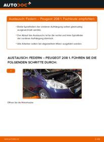 Wie der Wechsel durchführt wird: Federn 1.4 HDi Peugeot 208 1 tauschen