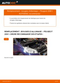 Comment effectuer un remplacement de Bougies d'Allumage sur 1.4 HDi Peugeot 208 CC