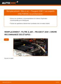 Comment effectuer un remplacement de Filtre à Air sur 1.4 HDi Peugeot 208 CC