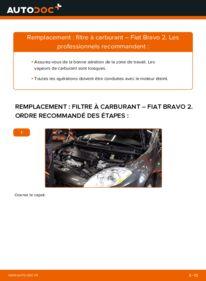 Comment effectuer un remplacement de Filtre à Carburant sur 1.9 D Multijet FIAT BRAVO II (198)