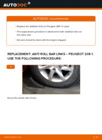 How to carry out replacement: Anti Roll Bar Links on 1.4 HDi Peugeot 208 Mk1