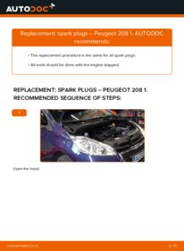 How to carry out replacement: Spark Plug on 1.4 HDi Peugeot 208 Mk1