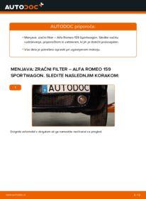 Kako izvesti menjavo: Zracni filter na 1.9 JTDM 16V Alfa Romeo 159 Sportwagon
