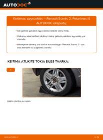 Kaip atlikti keitimą: 1.9 dCi Renault Scenic 2 Spyruoklės