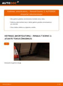 Kaip atlikti keitimą: 1.9 dCi Renault Scenic 2 Amortizatorius