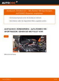 Wie der Wechsel durchführt wird: Zündkerzen 1.9 JTDM 16V Alfa Romeo 159 Sportwagon tauschen