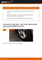 AUDI A4 (8EC, B7) Radlager wechseln hinten rechts links Anleitung pdf