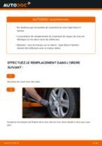 Comment changer et régler Jeu de roulements de roue OPEL ASTRA : tutoriel pdf