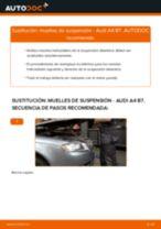 Cómo cambiar Resortes de suspension delanteras izquierda derecha AUDI A4 (8EC, B7) - manual en línea