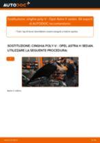 Come cambiare cinghia poly-V su Opel Astra H sedan - Guida alla sostituzione
