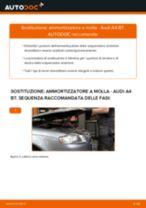 Come cambiare ammortizzatore a molla della parte anteriore su Audi A4 B7 - Guida alla sostituzione