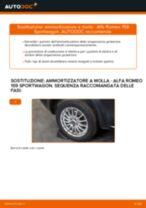 Come cambiare ammortizzatore a molla della parte posteriore su Alfa Romeo 159 Sportwagon - Guida alla sostituzione