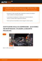 Come cambiare molle di sospensione della parte anteriore su Alfa Romeo 159 Sportwagon - Guida alla sostituzione