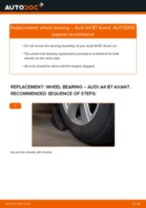 How to change front wheel bearing on Audi A4 B7 Avant – replacement guide