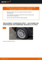 PDF replacement tutorial: Shocks ALFA ROMEO 159 Sportwagon (939) rear and front