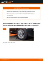 PDF replacement tutorial: Sway bar links ALFA ROMEO 159 Sportwagon (939) rear and front