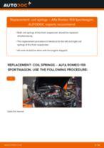 DIY ALFA ROMEO change Sway bar bushes - online manual pdf