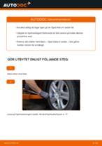 Byta hjullager fram på Opel Astra H sedan – utbytesguide