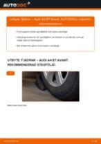 Byta fjädrar fram på Audi A4 B7 Avant – utbytesguide