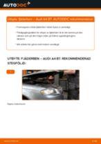 Byta fjäderben fram på Audi A4 B7 – utbytesguide