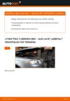 Slik bytter du fjærende ben fremme på en Audi A4 B7 – veiledning