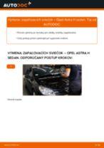 Ako vymeniť zapaľovacie sviečky na Opel Astra H sedan – návod na výmenu