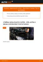 Podrobné PDF tutoriály, jak vyměnit Zapalovaci svicka na autě OPEL ASTRA H Saloon (L69)