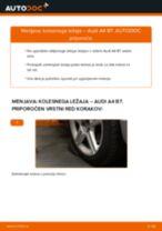 Kako zamenjati avtodel kolesni ležaji spredaj na avtu Audi A4 B7 – vodnik menjave