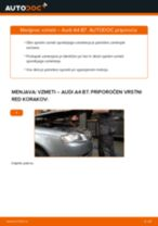 Kako zamenjati avtodel vzmeti spredaj na avtu Audi A4 B7 – vodnik menjave