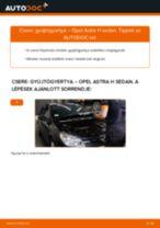 Gyújtógyertya-csere Opel Astra H sedan gépkocsin – Útmutató