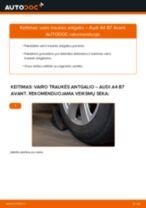 Pakeisti Skersinės vairo trauklės galas AUDI A4: instrukcija