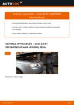 Kaip pakeisti Audi A4 B7 spyruoklės: priekis - keitimo instrukcija