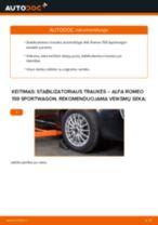 Žingsnis po žingsnio pakeiskite ALFA ROMEO 159 Sportwagon (939) Pasukimo trauklė PDF vadovas