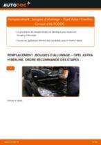 Comment changer : bougies d'allumage sur Opel Astra H berline - Guide de remplacement