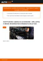 Come cambiare candele di accensione su Opel Astra H sedan - Guida alla sostituzione