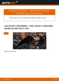 Wie der Wechsel durchführt wird: Keilrippenriemen 1.6 (L69) Opel Astra H Limousine tauschen